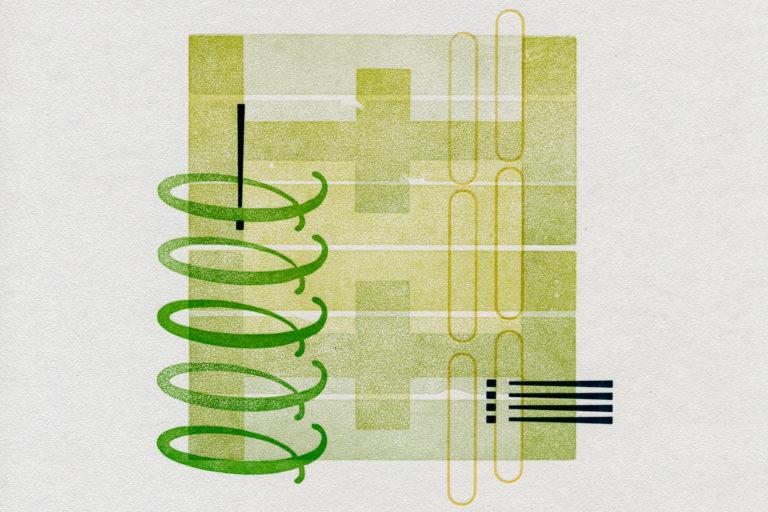 """EI Series [No. 2]"" typographic letterpress print by Amy Redmond (Amada Press, Seattle)"